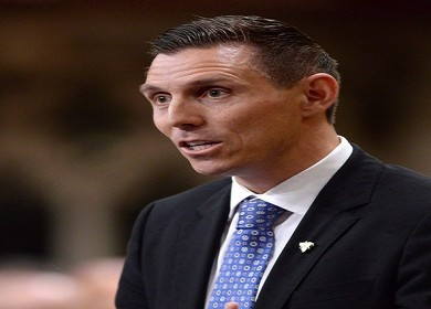 Conservative MP Patrick Brown gives his farewell speech in the House of Commons in Ottawa, Wednesday, May 13, 2015. Veteran Progressive Conservative Garfield Dunlop is resigning as the MPP for Simcoe North so new party leader Brown can run for a seat in the Ontario legislature.THE CANADIAN PRESS/Sean Kilpatrick