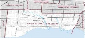 Mississaga Lake shore map
