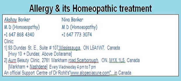 Allergy & its Homeopathic treatment   The Asian Connections Newspaper